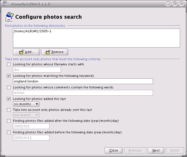 PhotoMailWizard full screenshot